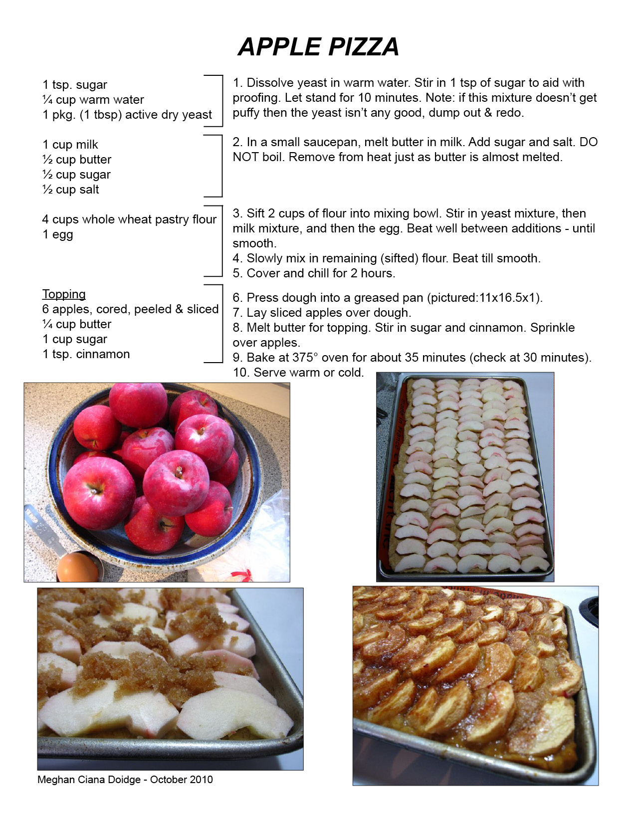 Apple Kuchen AKA Apple Pizza | Made by Meghan
