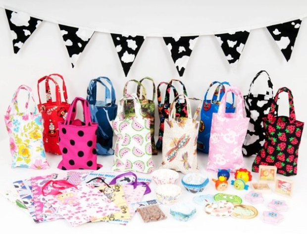 Handmade Fabric Party Bags