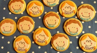 Funny faces biscuits by Sarah B