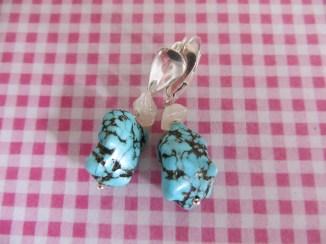 turquoise raw earrings (9)