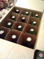 One of many cases of the wine we bottled.