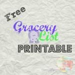 Free Grocery Checklist Printable