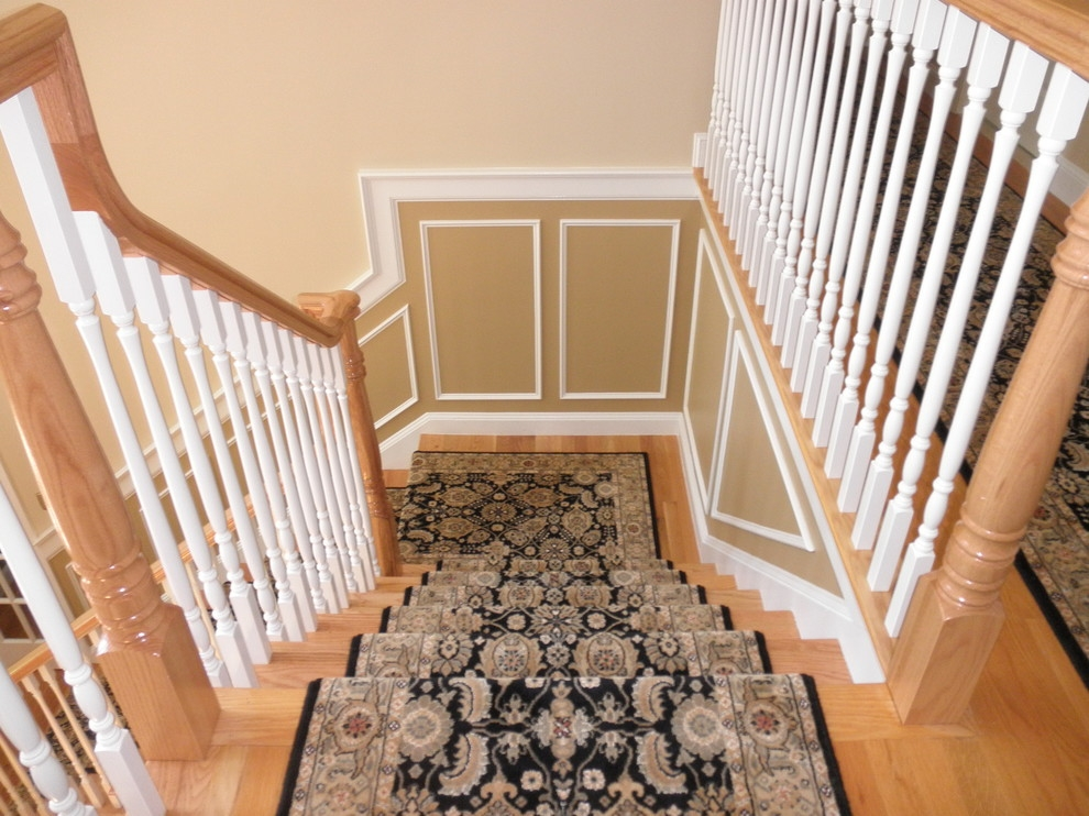 Baroque Carpet Stair Treads In Staircase Traditional With Next To | Individual Carpet Stair Treads | Bullnose Carpet | Wood | Hardwood | Flooring | Spiral Staircase