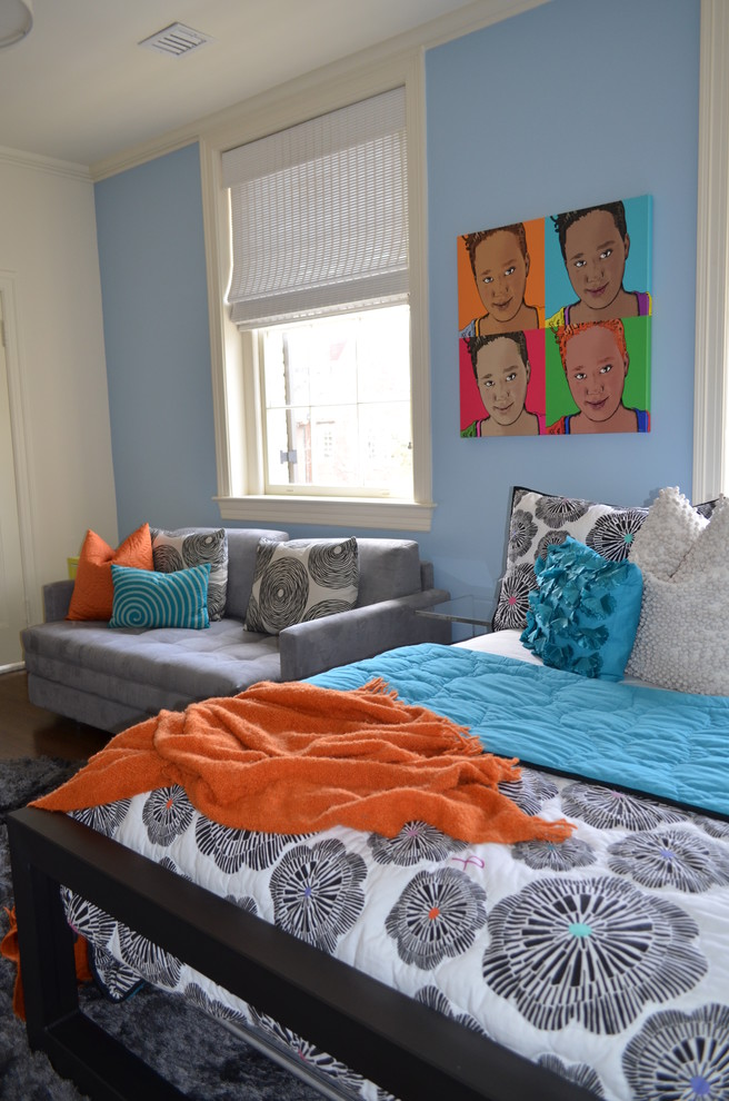 Bright Loveseat Sleeper In Home Office Contemporary With