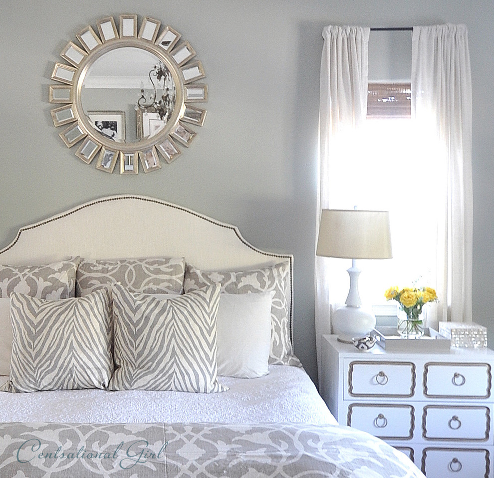 Good Looking sunburst mirror in Bedroom Traditional with ... on Mirrors Next To Bed  id=48487