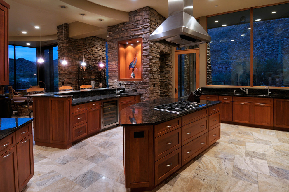 Bright bedrosians in Kitchen Transitional with Tile ... on Black Granite Countertops With Brown Cabinets  id=84712