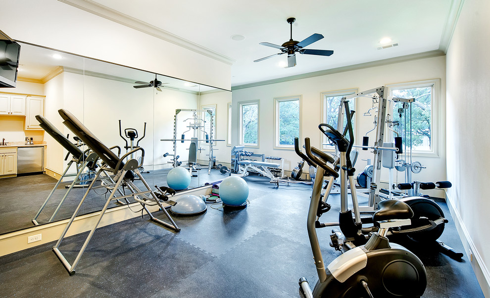 Innovative marcy weight bench in Home Gym Traditional with Rubber Flooring  next to Exercise Room  alongside Exercise Room Floor  and Flooring