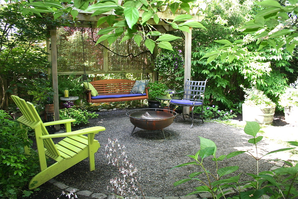 Inspired adirondack chair cushions in Patio Traditional ... on Backyard With Gravel Ideas id=46827