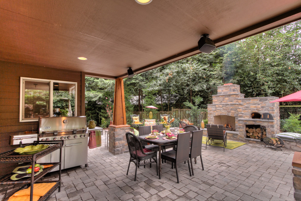 Magnificent weber grill cover in Deck Contemporary with ... on Outdoor Patio With Pizza Oven  id=90906