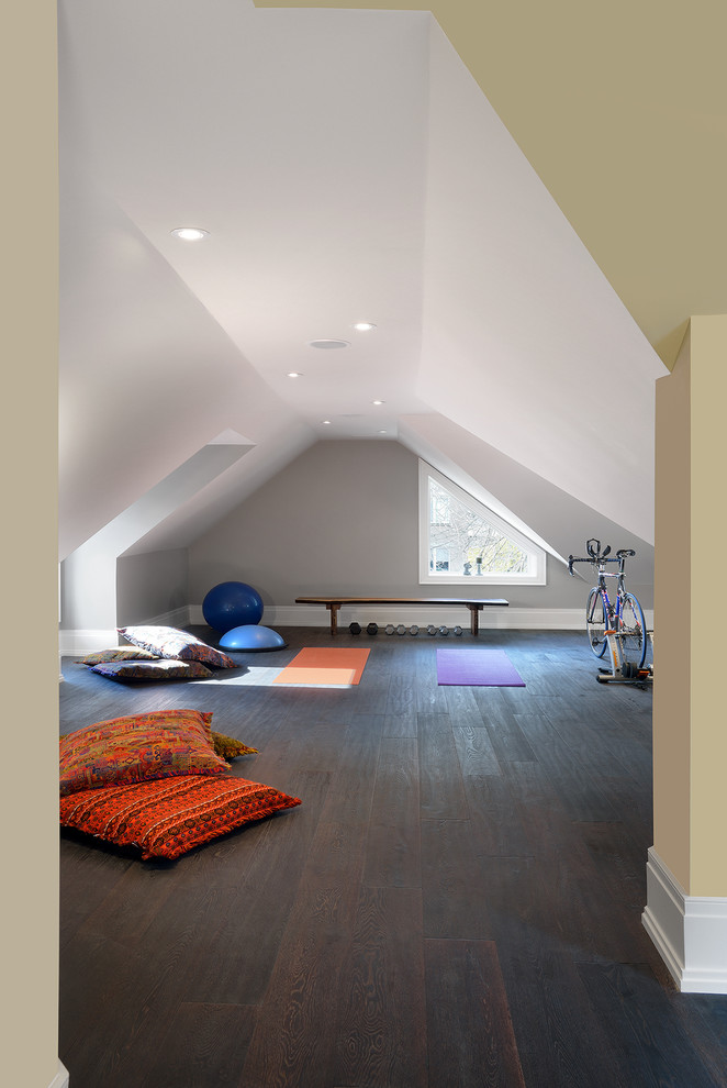 Sumptuous marcy weight bench in Home Gym Contemporary with Convert Garage To Apartment  next to Best Home Gym Colors  alongside Attic  and Yoga Room