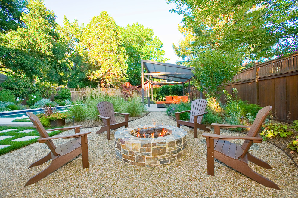 Superb polywoodin Patio Contemporary with Attractive Pea ... on Backyard With Gravel Ideas id=21102
