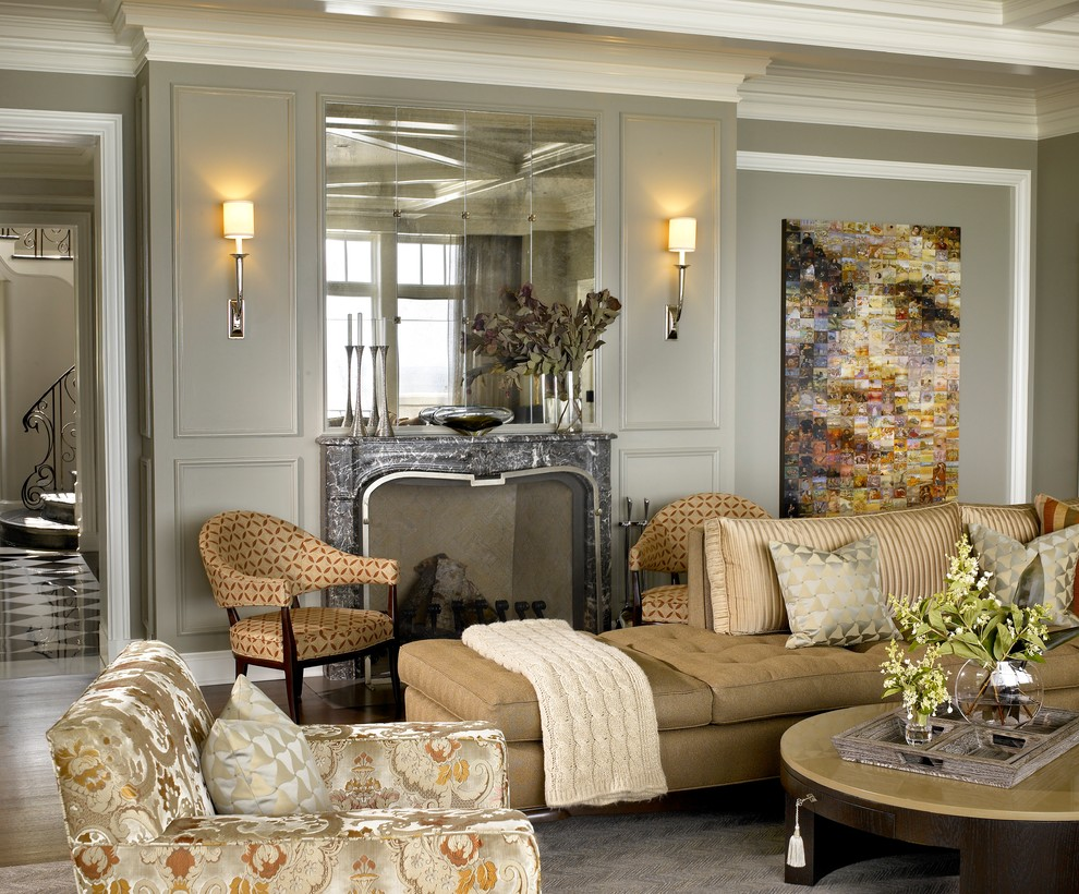 Baroque cable knit throw in Family Room Transitional with ... on Living Room Wall Sconce Ideas For Dining Area id=14328