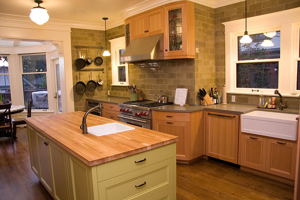 Impressive Wall Mounted Pot Rack In Kitchen Traditional