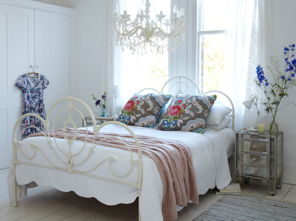 Baroque Wrought Iron Bed Frames In Bedroom Shabby Chic
