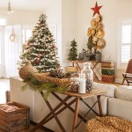 Beautiful cheap artificial christmas trees in Family Room Shabby chic with Beach House Decor Ideas next to Artificial Grass Ideas alongside Apothecary Jars and Rustic Decor