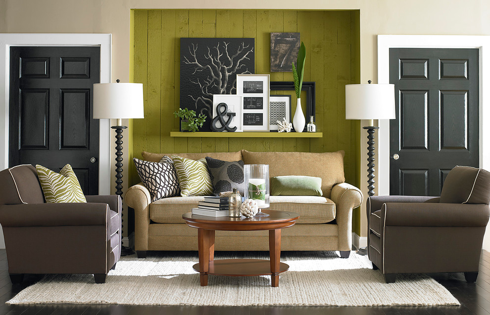 Beautiful Sleeper Ottoman In Living Room Contemporary With Den
