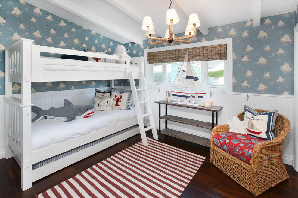 Beautiful trundle bunk beds in Kids Tropical with Bunk Beds Ideas  next to Bunkbeds  alongside Bedroom Themes  and Bunk Bed Ladder