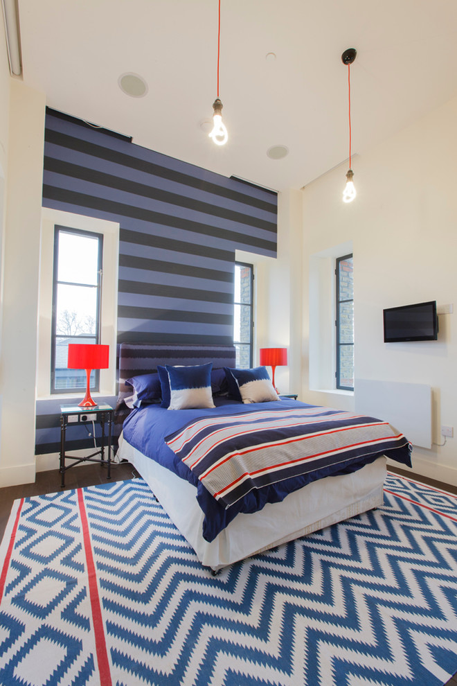 Dazzling bedspreads for teens in Bedroom Contemporary with Wall Paint Ideas  next to Teenage Bedroom Ideas For Boys  alongside High Ceilings  and Funky Teen Bedrooms