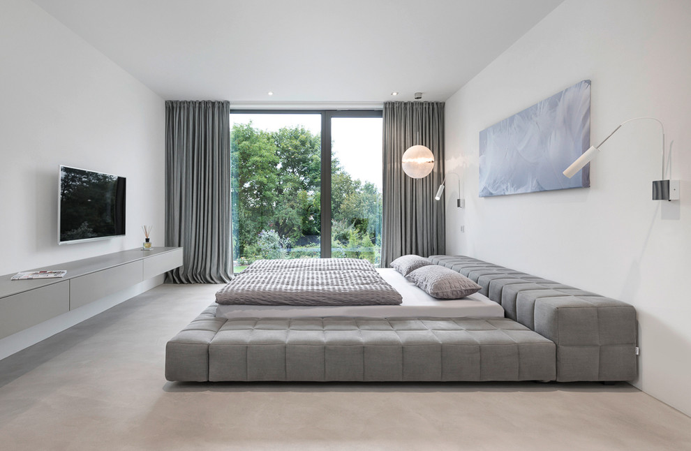 Dazzling upholstered platform bed in Bedroom Contemporary with Bedroom Sideboard  next to Upholstered Platform Bed  alongside Breakfront Sideboard Ideas  and Gray Upholstered Bed
