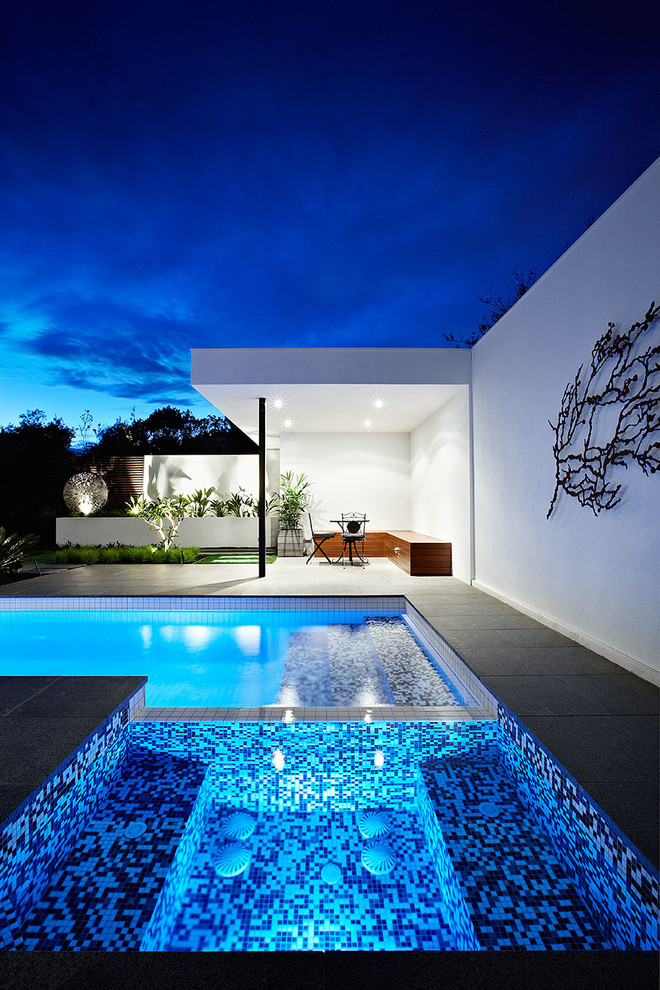 Elegant pool floats for adults in Exterior Contemporary ... on Modern Backyard Ideas With Pool id=89550