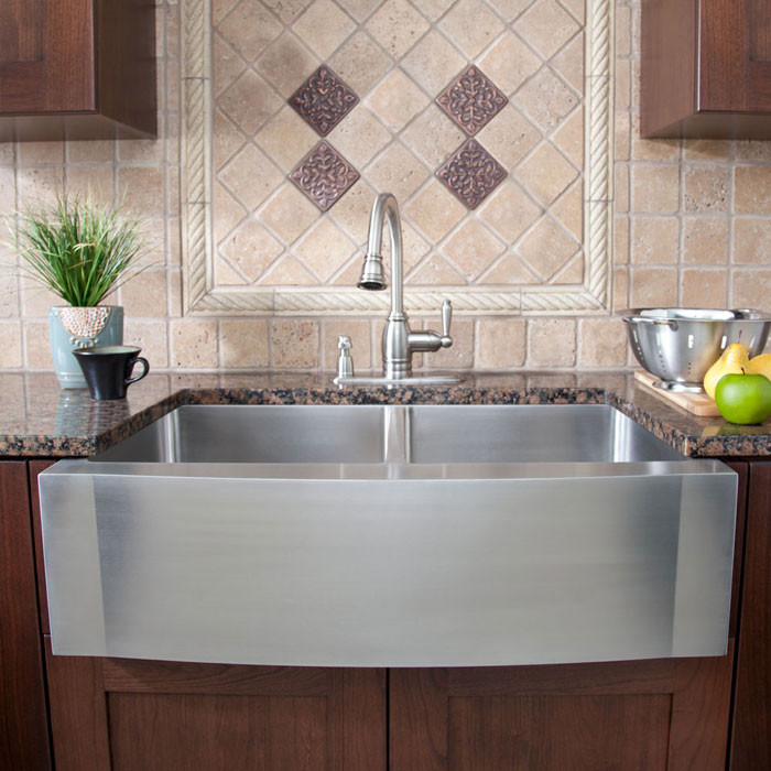 Elegant stainless steel griddle in Kitchen Contemporary with Farm Sink  next to Kitchen Sink  alongside Country Kitchen  and Ikea Farmhouse Sink