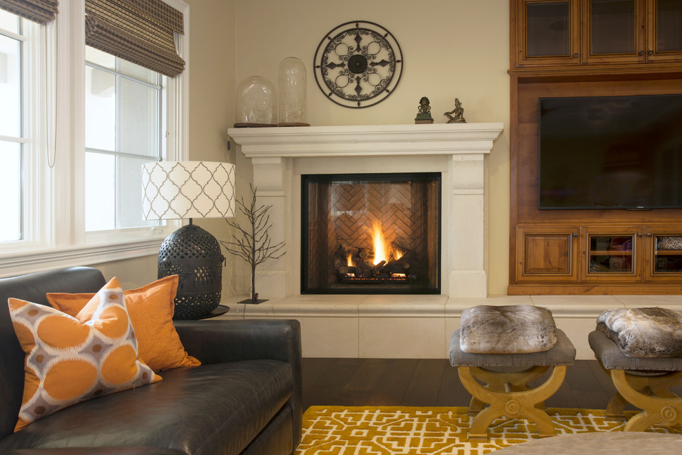 Bright faux fur throws Image Ideas for Living Room ... on Living Room Fire Pit id=49909