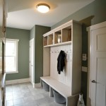 Glamorous hall tree storage bench in Laundry Room Contemporary with Mud Room Bead Board next to Laundry Room In Bathroom alongside Laundry Mudroom and Garage