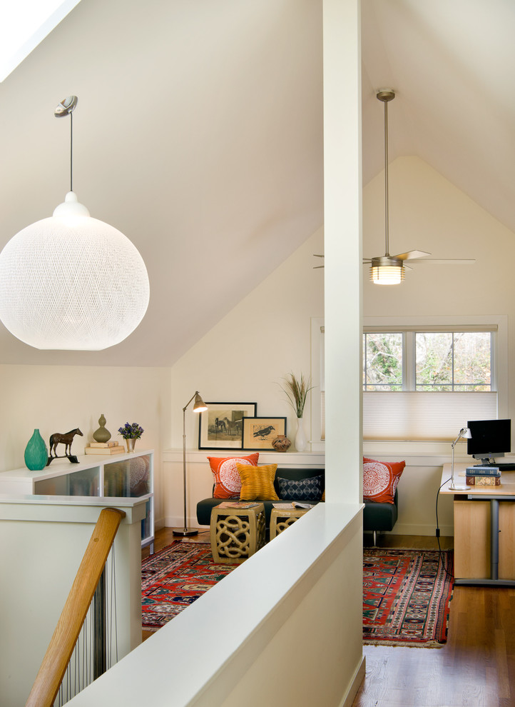 Good Looking ceiling fan globes in Home Office Contemporary with Futon  next to Attic  alongside Ceiling Fan Ideas  and Bonus Room