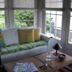 Good Looking porch glider in Porch Eclectic with Enclosed Blinds next to Deep Shade Porch Plants alongside Designing A Sunroom and Hanging Decor