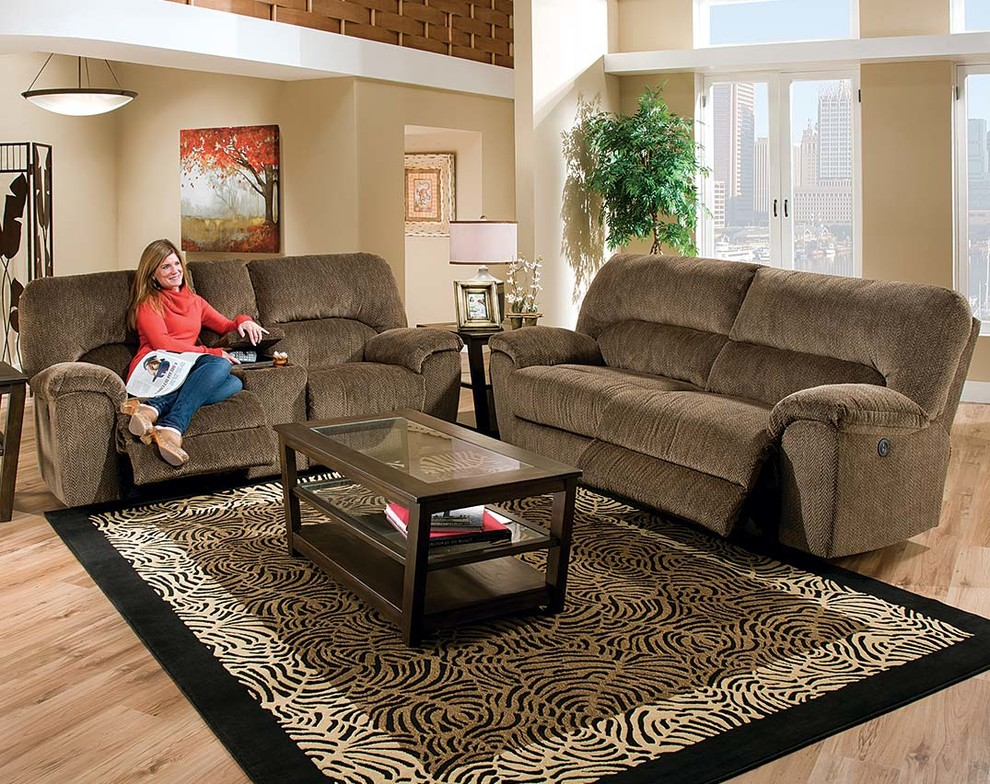 Image Result For Evans Double Reclining Sofa With Fold Down Tray Table