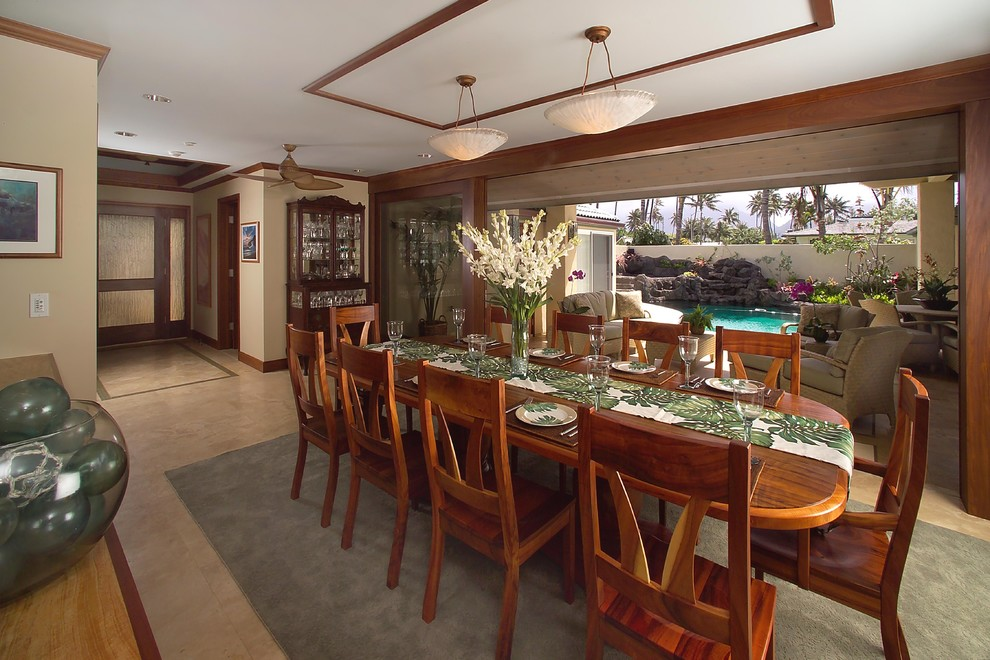Gorgeous  cheap table runners in Dining Room Tropical with Simple Ceiling  next to Table Setting  alongside Ceiling Molding  and False Ceiling