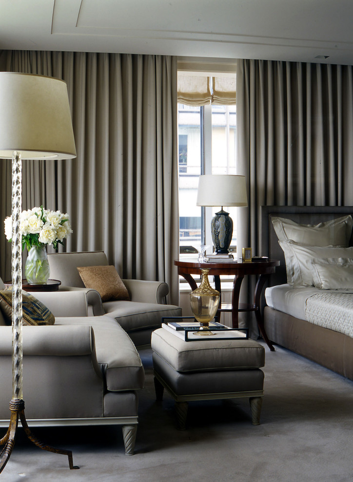 Impressive blackout curtain liner in Bedroom Traditional ... on Master Bedroom Curtain Ideas  id=52344