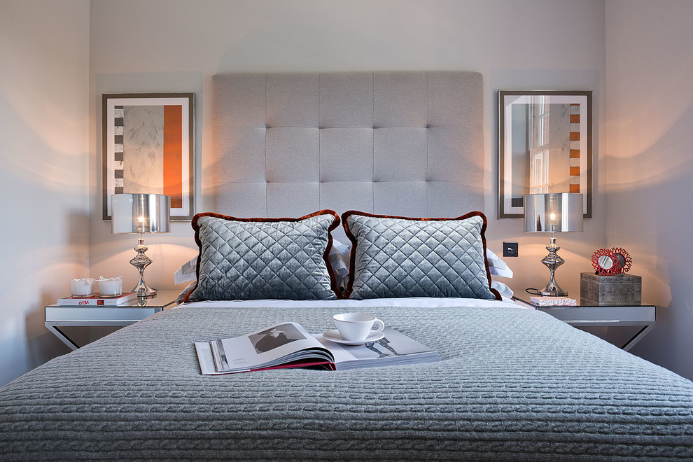Impressive cable knit throw in Bedroom Contemporary with ... on Mirrors Next To Bed  id=88459