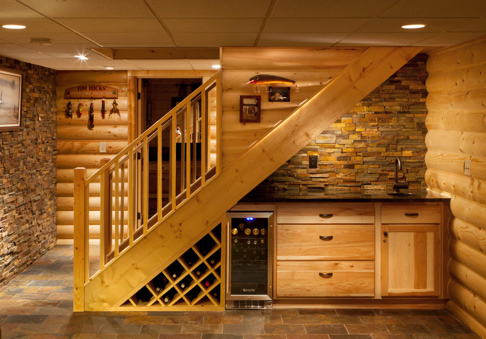 Innovative Puck Lights In Basement Rustic With Install Or
