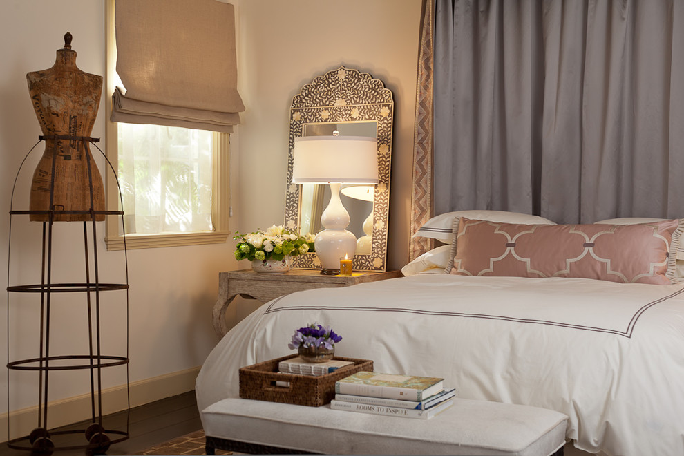 Inspired mirrored nightstands in Bedroom Mediterranean ... on Mirrors Next To Bed  id=47182