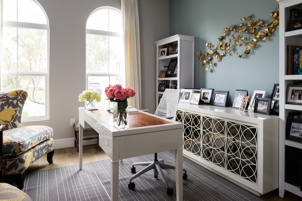 Magnificent Credenza Desk In Home Office Contemporary With