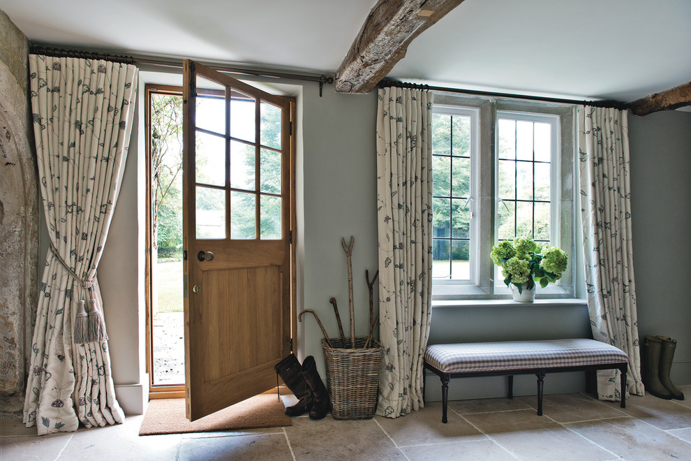 Magnificent hall tree storage bench in Entry Farmhouse ... on Farmhouse Bedroom Curtain Ideas  id=90952