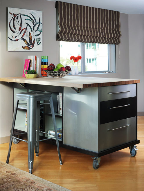 Magnificent movable kitchen islands in Kitchen Contemporary with Small Kitchen Cabinets  next to Kitchen Island Decorating  alongside Kitchen Island Attached Table  and Craft Table