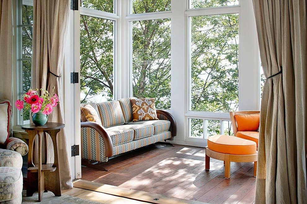 Magnificent porch glider in Sunroom Traditional with Sun Room next to Sunroom Furniture Ideas alongside Sunroom Flooring and Treehouse