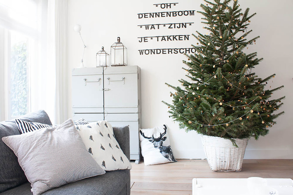 Marvelous burlap christmas tree skirt in Living Room Scandinavian with World's Best House Interiors  next to Beautiful House Interior Photos  alongside Men Home Decor  and Potted Patio Trees