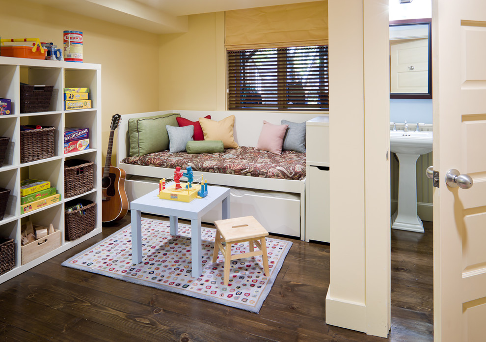 Marvelous daybed trundle in Kids Eclectic with Outside Mount Roman Shade  next to Kids Room  alongside Area Rug Under Bed  and Fun And Young Kids Room