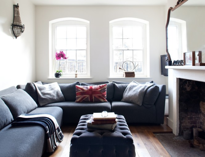 Pretty Microfiber Sectional Couch In Living Room Eclectic With Tv Next To Open Concept Kitchen Alongside Black Leather Sofa Ideas
