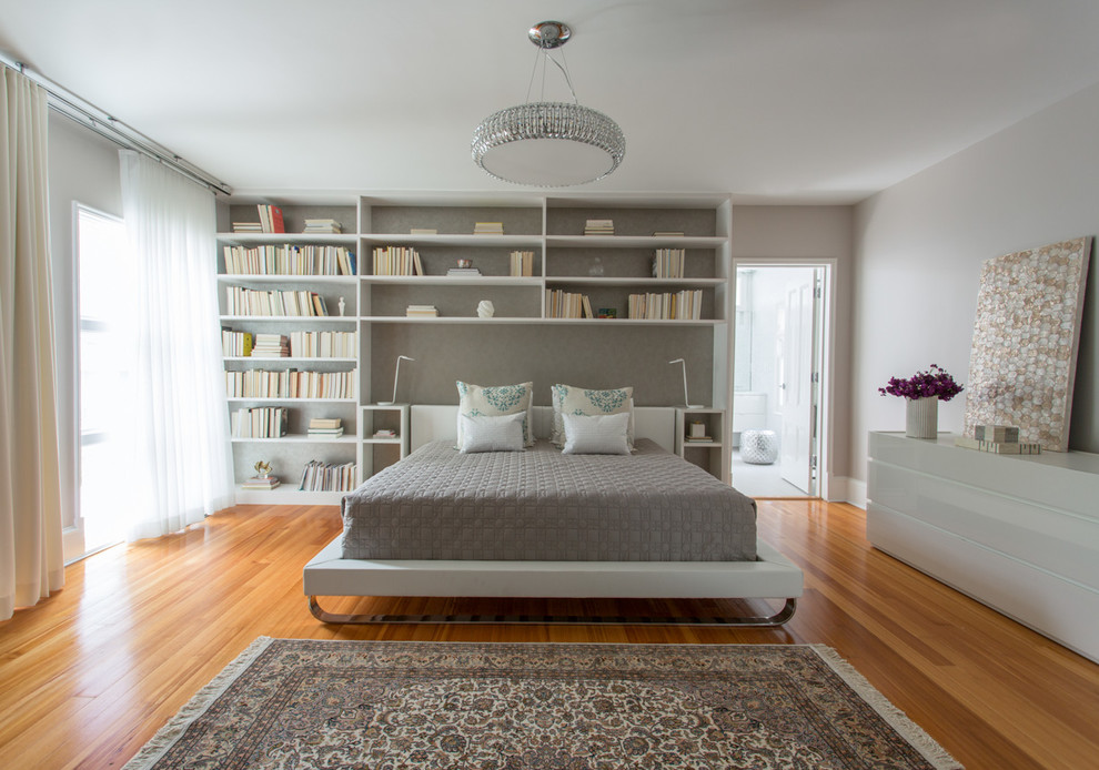 Pretty upholstered platform bed in Bedroom Transitional with  next to N  alongside F# and A