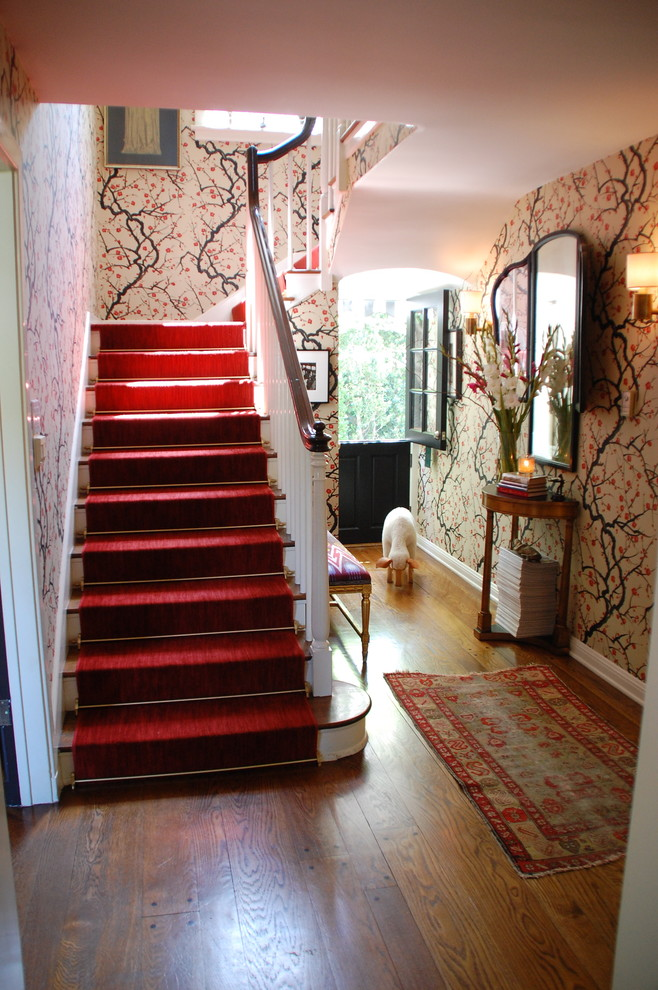 Sumptuous cheap table runners in Staircase Traditional with Dutch Door  next to Small House Design  alongside Dog House Ideas  and Pergola Attached To House