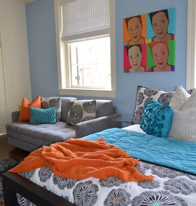 Superb bedspreads for teens in Kids Eclectic with Allen & Roth Area Rug next to Ethan Allen Sofa Ideas alongside Teenage Girl Bedroom Closet and Teen Lounge
