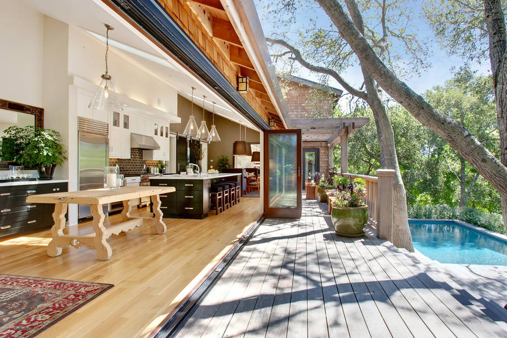 Superb outdoor griddle in Deck Transitional with Backyard ... on Open Backyard Ideas id=73274