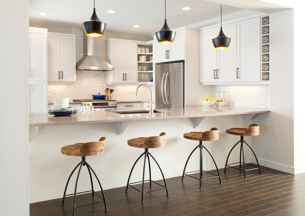 Superb swivel counter stools in Kitchen Contemporary with Oil Rubbed Bronze Kitchen Faucet  next to Oil Rubbed Bronze Bathroom Fixtures  alongside Urbane Bronze  and Blanco Gabrielle Granite