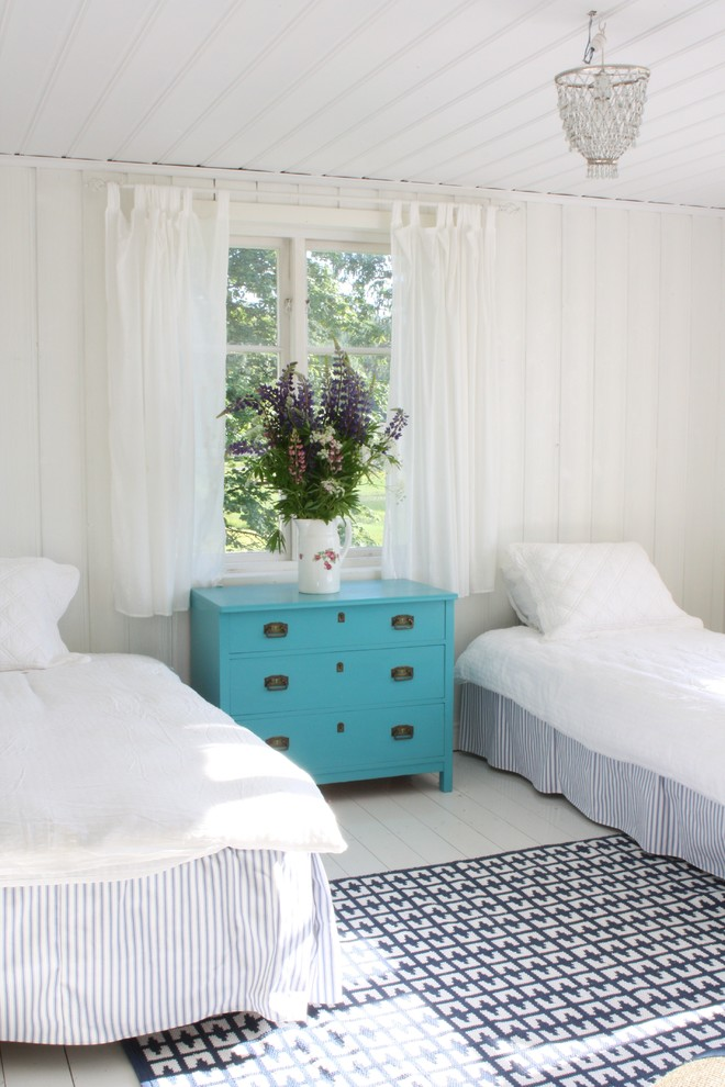 superb white ruffle curtains in bedroom