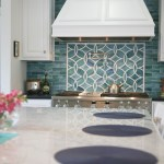 groutless tile backsplash kitchen contemporary with transitional pendant lights