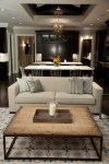 stainless steel coffee living room rustic with exposed wood beams solid color sleeper sofas